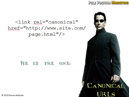 Solution: Canonical URLs.