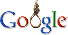 Google logo with noose
