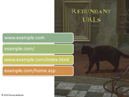Cause: Redundant URLs.