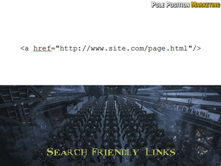 Solution: Search friendly links.