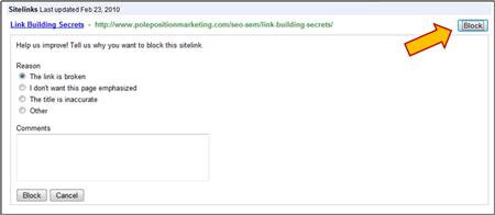 Block Sitelinks